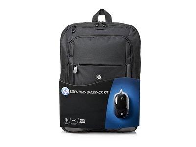 HP Essentials Kit Backpack: mochila + ratón para el portátil por 29,99 euros en Fnac