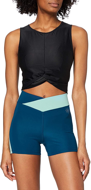 Marca Amazon - AURIQUE Shorts de Deporte Mujer