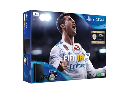 super week ebay pack ps4 slim 1tb fifa 18 por 294 95. Black Bedroom Furniture Sets. Home Design Ideas