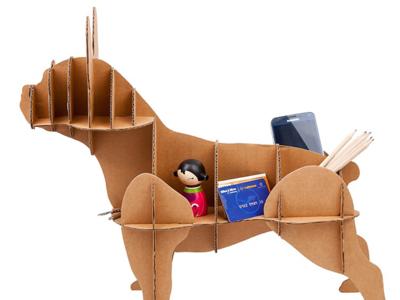 Decora tu casa con este simpático bulldog francés de cartón