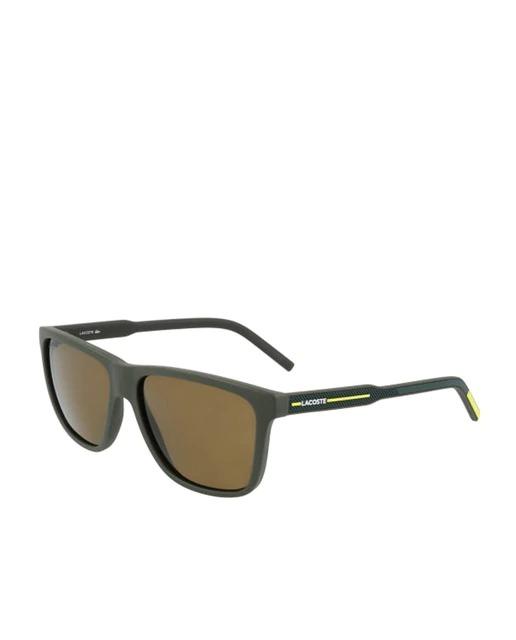 Gafas de sol de hombre Lacoste de acetato en verde mate