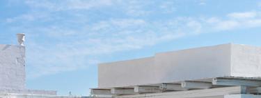 El blanco también puede ser un color excelente para la decoración de exteriores
