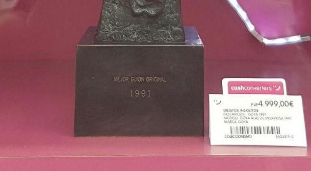 La historia del Goya de 1991 que se vende en un Cash Converters de Vitoria es cierta