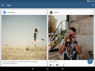 Imagine, un cliente para Instagram con Material Design
