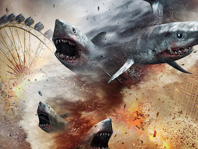 El teaser de 'Sharknado 5' adelanta que tendremos escualentamiento global