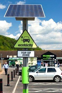 """Ecotricity: Red de recarga """"verde"""" y gratuita en Reino Unido"""