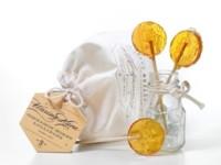 Para los golosos más sibaritas Honey Lollipops con canela, lavanda y chocolate negro