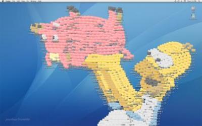 Imagen de la semana: Homer Simpson hecho con iconos de carpetas