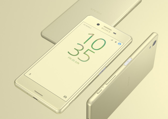 Xperia X Gold Design