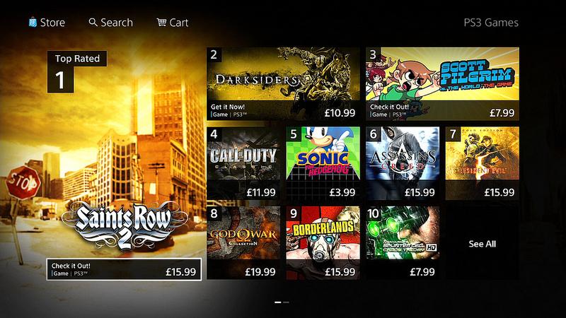 Nueva interfaz PS Store