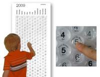 Calendario con burbujas para explotar