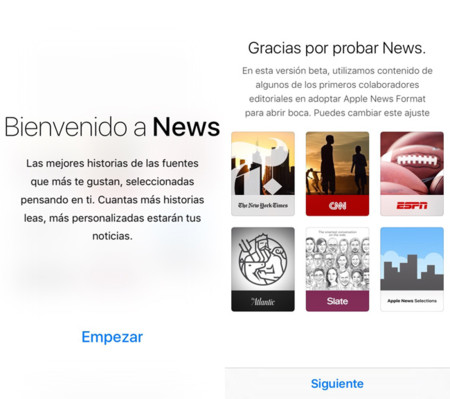 Apple News en iOS 9
