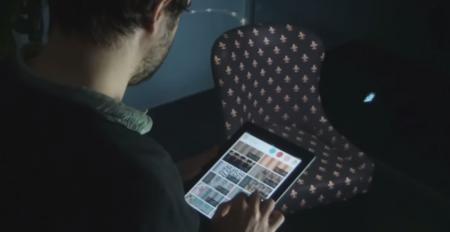 VizeraLabs te ayuda a elegir el sofá perfecto utilizando un proyector