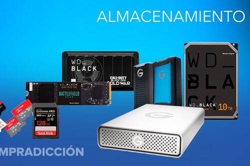 Ofertas en almacenamiento Western Digital, SanDisk y G-Technology: los discos duros, pendrives y tarjetas de memoria más baratos te esperan en Amazon