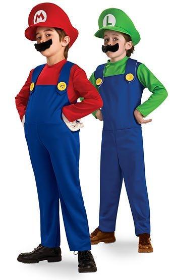 Disfraces para Halloween: Súper Mario y Luigi, para los peques