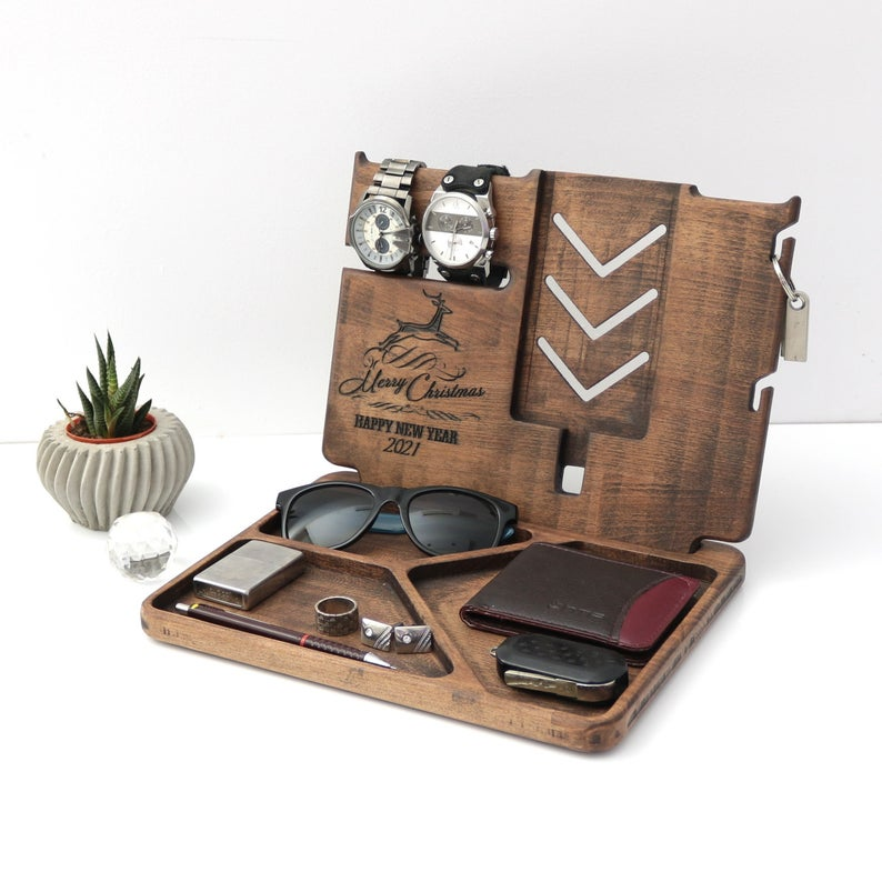 Organizador de madera para escritorio con gradado