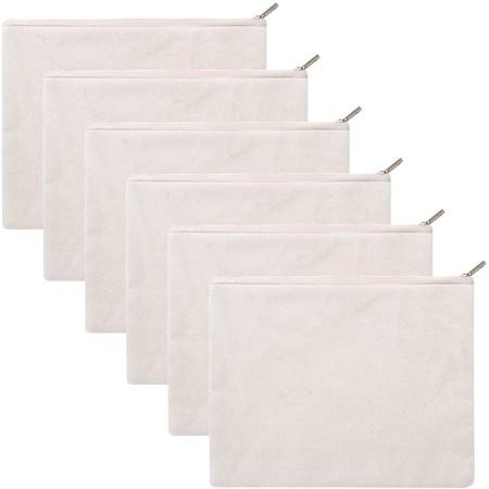 bolsas de lona de algodón con cremallera