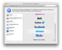 Como añadir Facebook al centro de notificaciones de Mountain lion