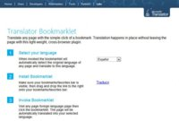 Microsoft lanza Bookmarklet Translator