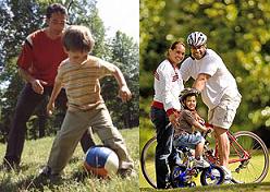 Hacer ejercicio con nuestros hijos ayudará a prevenir los dolores de espalda