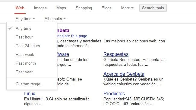 Las herramientas de búsqueda de Google