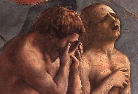 Adean y Eva expulsados del Paraíso. Masaccio
