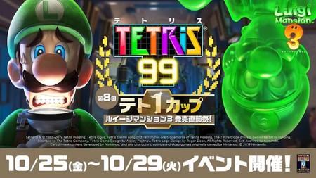 Tetris 99 celebrará un nuevo evento este fin de semana dedicado a Luigi's Mansion 3