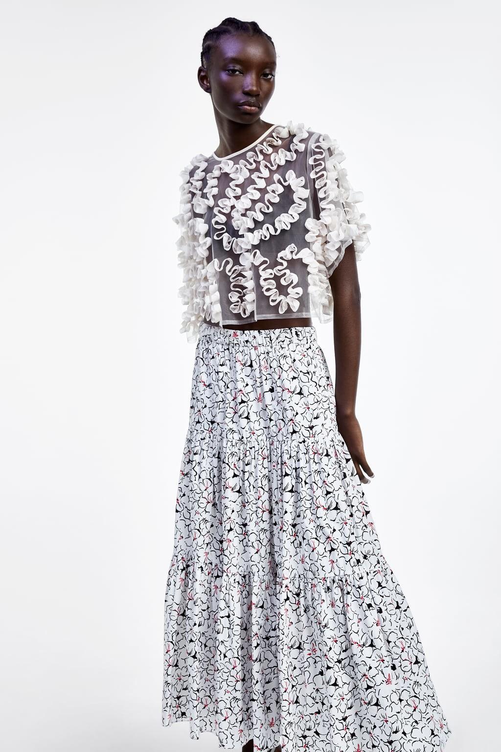 f993b1ed2 Mini faldas, de largo midi y maxi faldas en rebajas de Zara verano 2019