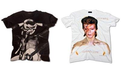Camisetas de David Bowie para Zara Casual