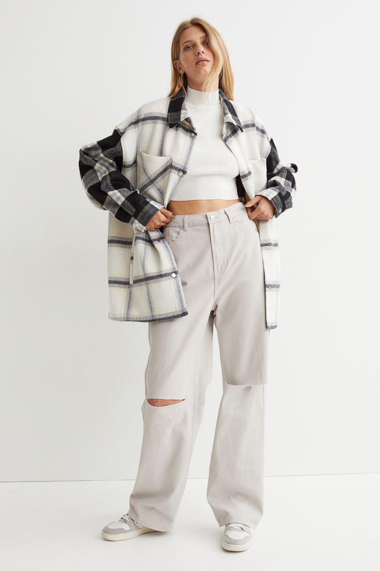 Pantalones wide leg de H&M
