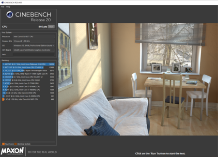 Cinebench R20 Captura Fold X1 Lenvoo