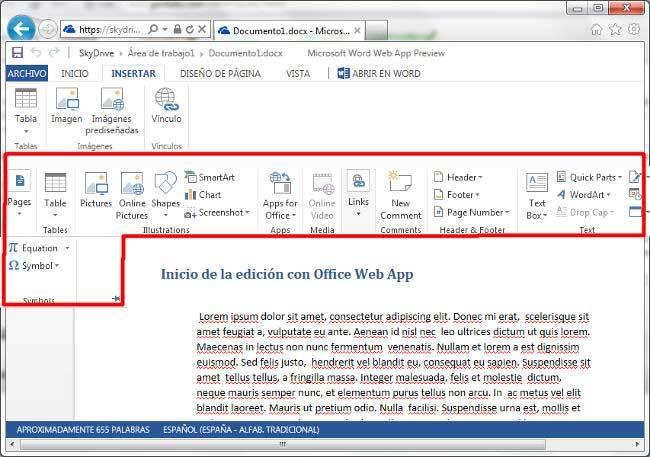 Edición online vs. edición local