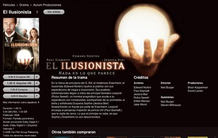 El Ilusionista en iTunes