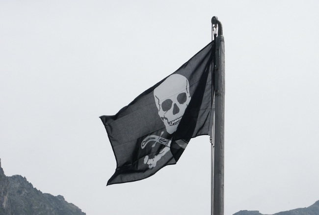 bandera pirata hackers