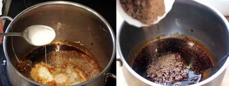 mousse chocolate al caramelo elaboración 1