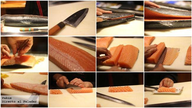 cortes japoneses del pescado