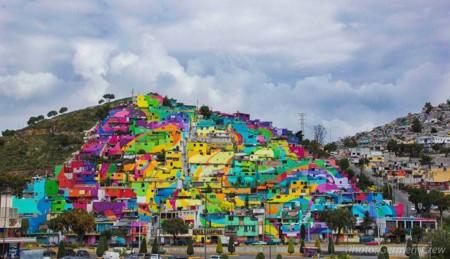 209 casas forman parte del espectacular macromural más grande de México