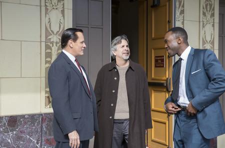 Peter Farrelly con Viggo Mortensen y Mahershala Ali