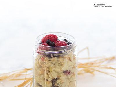 Receta de muesli Bircher. Una buena manera de desayunar sano