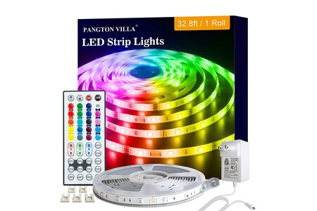 Tira LED de 10 metros disponible en Amazon México por 299 pesos: cupón para 50 pesos de descuento adicional disponible