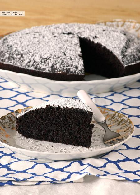 pastel vegano de chocolate y café