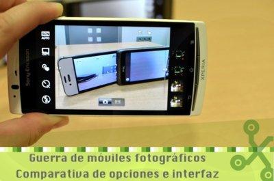 iPhone 4S, HTC Radar y Xperia Arc S: un repaso a su interfaz fotográfica