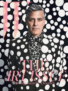 George Clooney convertido en una carismática obra Arty firmada por Yayoi Kusama