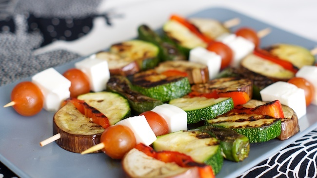 Brochetas verduras siken - presentación