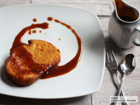 torrijas con toffee