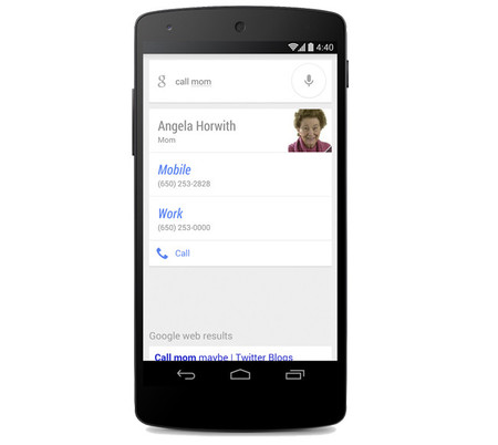 Google Now permitirá hacer llamadas y enviar mensajes a nuestros contactos mencionando la relación familiar