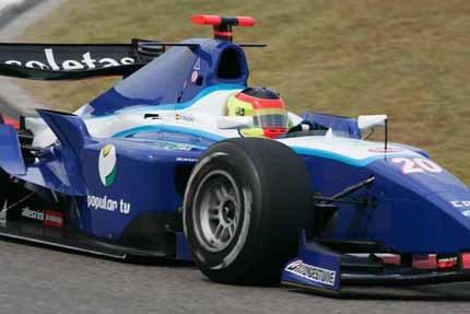 Primera pole española en la GP2 para Roldán