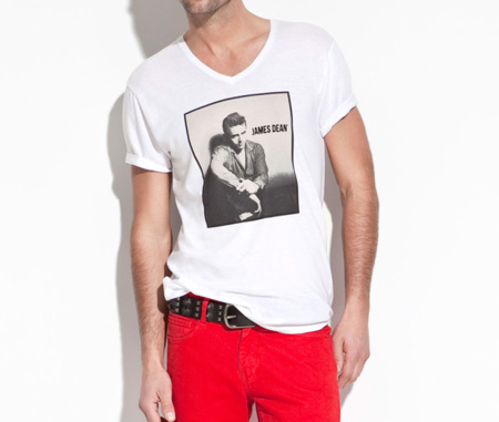Camisetas James Dean en Zara