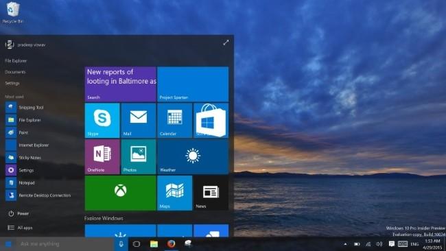 Windows10 10074