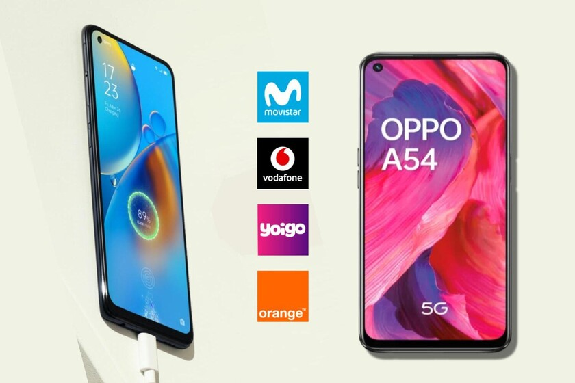 Dónde comprar los OPPO A54 5G y A74 5G más baratos: comparativa ofertas con Movistar, Vodafone, Orange y Yoigo